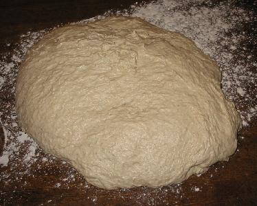 dough after bulk fermentation