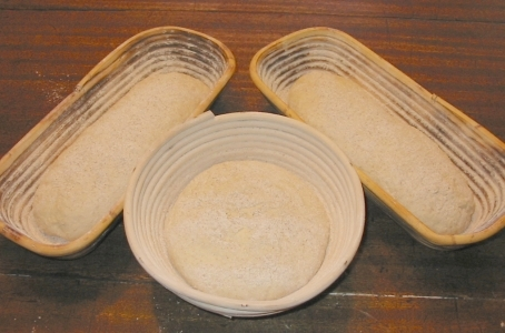 bannetons with dough